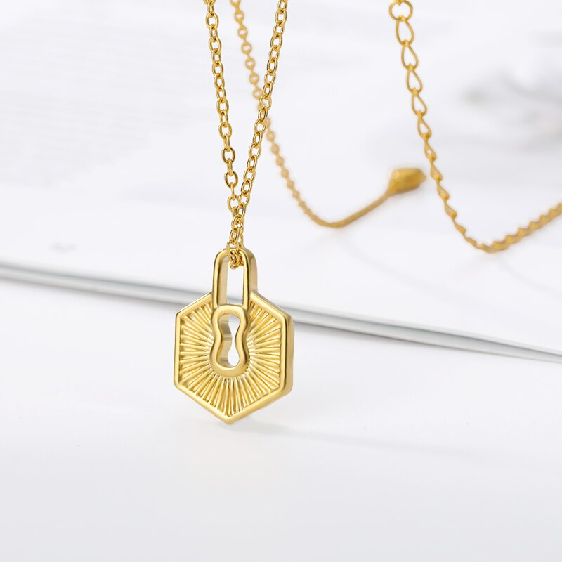 Hexagonal lock Necklace
