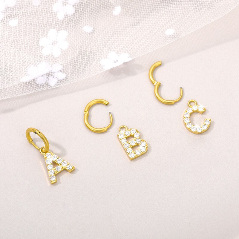 Letters Earrings
