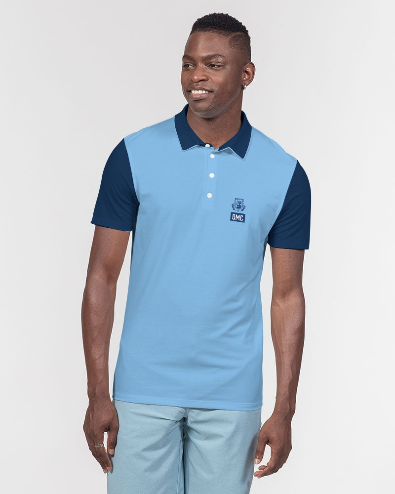 DMC Baby Blue Men's Short Sleeve Polo
