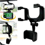 Universal 360° Car Rearview Mirror Mount Stand Holder Cradle For Cell Phone GPS Car Rear View Mirror Holder - Ikan Apparel