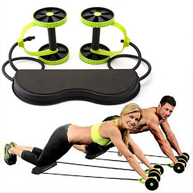 Muscle Exercise Gear Fitness Double Wheel Abdominal - Ikan Apparel