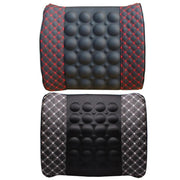 Car Lumbar Support Pillow 12V Electric Massage Auto Seat Back Relaxation Office Chair Waist Lumbar Support Cotton Cushion Pillow - Ikan Apparel