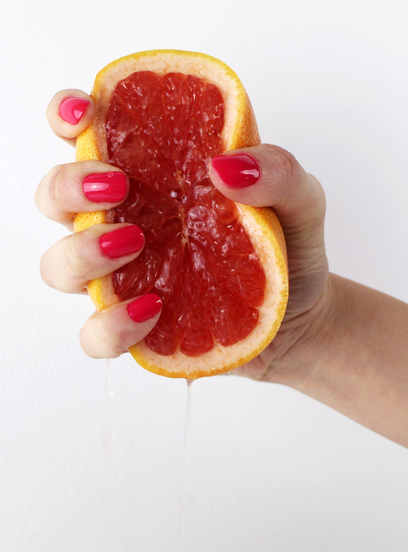 Color Grapefruit Non Toxic Nail Polish - Handmade Beauty