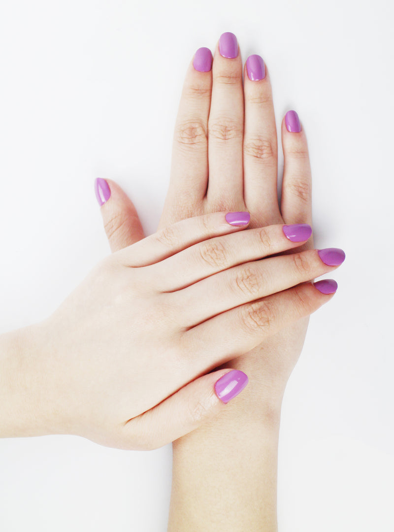 Non Toxic Nail Polish Color Plum - Handmade Beauty