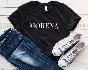 Morena Shirt, Graphic Tees for Women of Color, People of Color Shirt Ideas