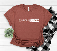 Load image into Gallery viewer, Quarantine Design Shirt in Clay Red, Queen Print Shirt, Graphic Tee