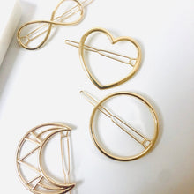 Load image into Gallery viewer, Gold Geometric Hair Clip Set