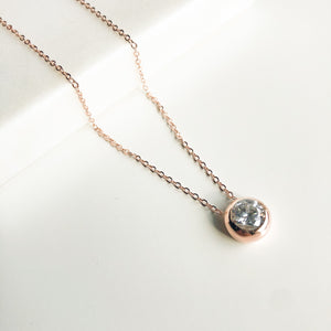 Rose Gold CZ Necklace