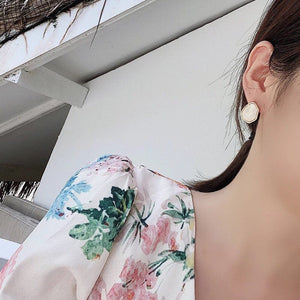 Geometric Marble Earrings