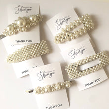 Load image into Gallery viewer, 6-piece Pearl Hair Clip Set