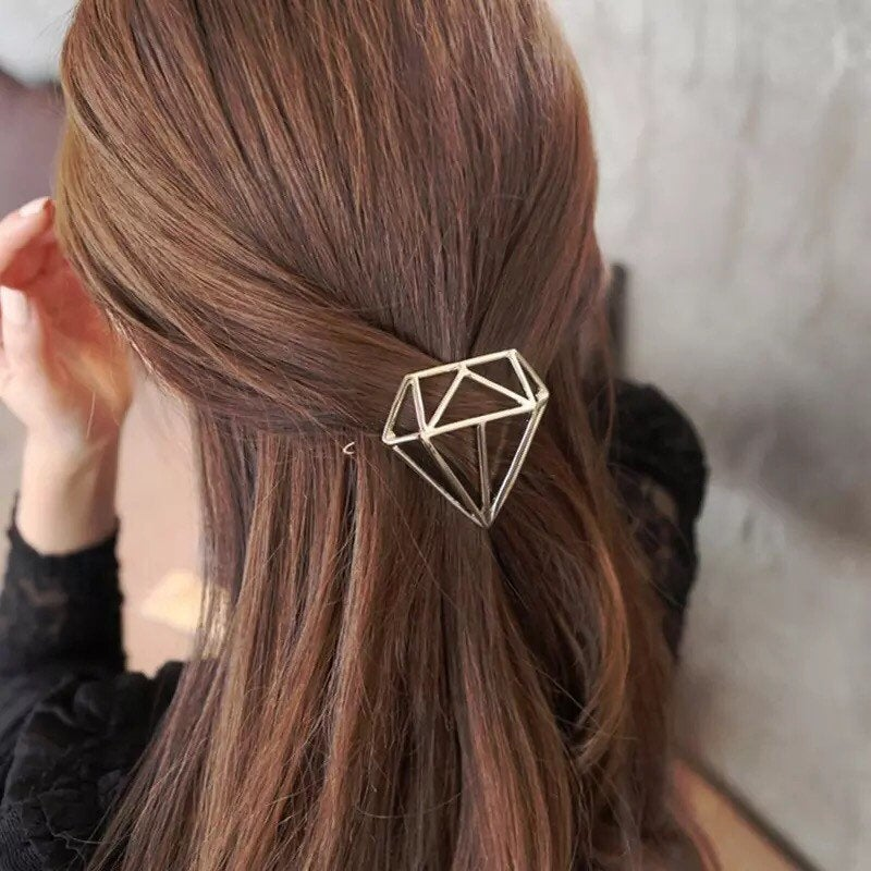 Diamond Geometric Hair Clip
