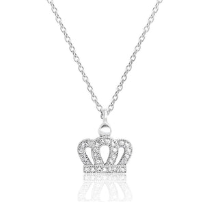 Crown CZ Necklace