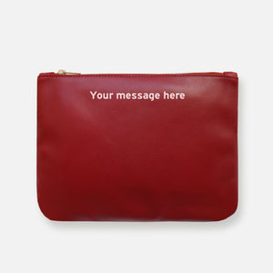 MESS POUCH • DAHLIA RED