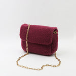 SPC13 • MINI TITA HANDBAG MOUTON CHOU ROUGE