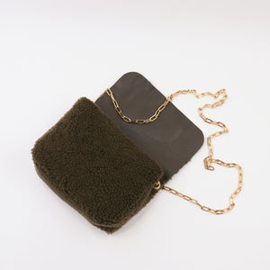 SPC12 • MINI TITA HANDBAG MOUTON KHAKI