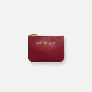 MINI MESS POUCH • DAHLIA RED