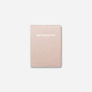 PASSPORT HOLDER • NUDE