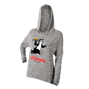 Gray Women's Drop Tail Hamm's Bear Hoodie
