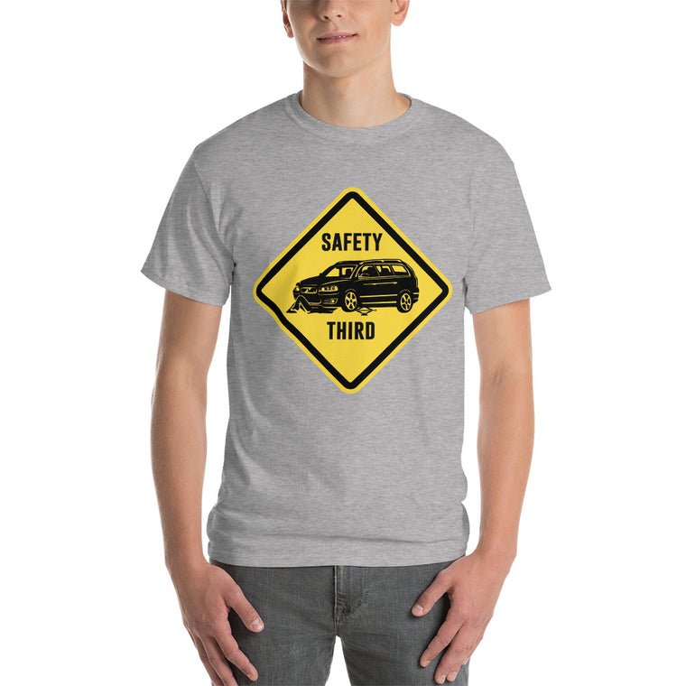 "V70R ""Safety Third Sign"" Heavy T-Shirt"