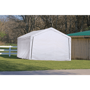 "ShelterLogic 12×26 White Canopy Enclosure Kit, Fits 2"" Frame"