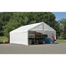 Load image into Gallery viewer, ShelterLogic 18×30 White Canopy Enclosure Kit; FR Rated