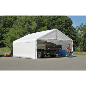 ShelterLogic 18×30 White Canopy Enclosure Kit; FR Rated