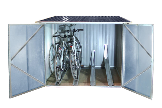 DuraMax Bicycle Storage Shed Anthracite w/White Trim