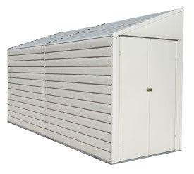 Arrow Yardsaver 4 x 10 ft. Steel Storage Shed Pent Roof Eggshell