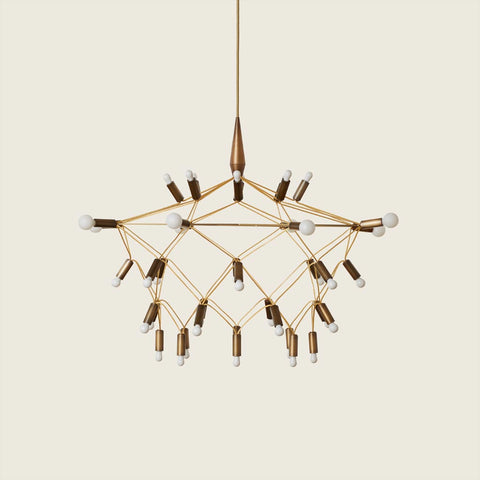 Patrick Townsend Design Orbit35 Shorty Bronze Chandelier