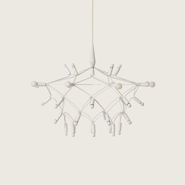 Patrick Townsend Design Orbit35 Shorty White Chandelier