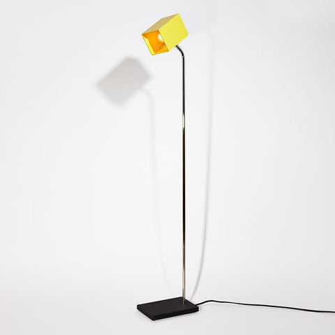 Yellow Heron Floor Lamp