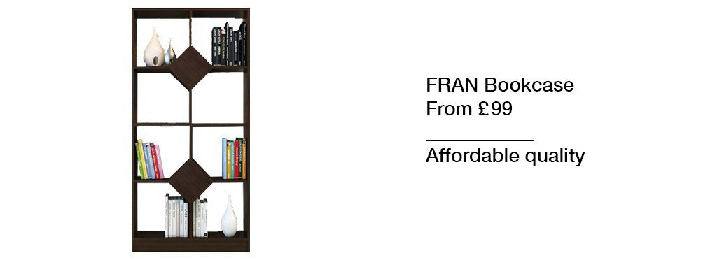 Fran Dark Brown Bookcase