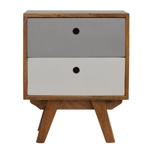 2 Drawer Scandinavian Bedside Grey-Bedside-Modern Furniture Deals