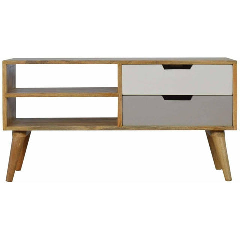 2 Drawer Scandinavian Media Cabinet-Modern Furniture Deals