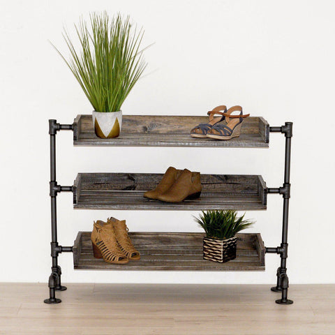 Pipe Industrial Shoe Rack-Shoe Cabinet-[70% Sale for Unique Designer Brands]-Modern Furniture Deals