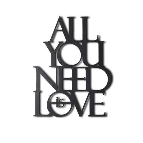 ALL YOU NEED IS LOVE Wall Art-Metal Wall Art-[sale]-[design]-[modern]-Modern Furniture Deals