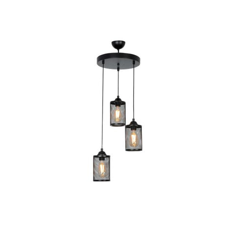 ALPHA 3 Round Black Ceiling Light-Ceiling Light-[sale]-[design]-[modern]-Modern Furniture Deals