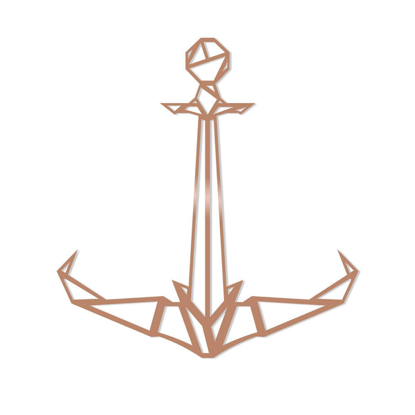 ANCHOR2 - COPPER Wall Art-Metal Wall Art-[sale]-[design]-[modern]-Modern Furniture Deals
