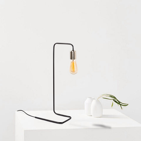 AROQ Nickel Table Lamp-Desk Lamp-[sale]-[design]-[modern]-Modern Furniture Deals
