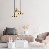 Asos 3 Round Ceiling Light Vintage Gold-Ceiling Light-[sale]-[design]-[modern]-Modern Furniture Deals