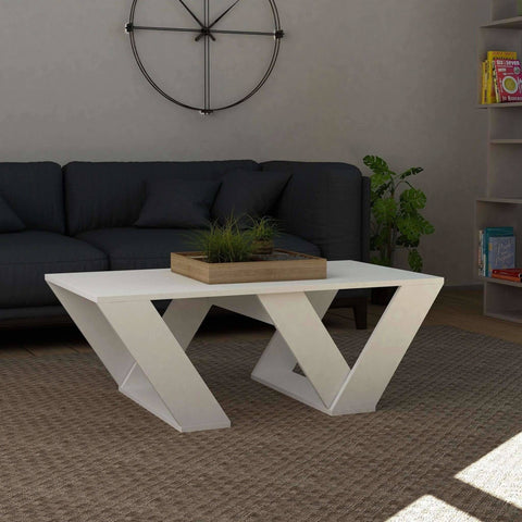 Auro Coffee Table-White-Modern Furniture Deals
