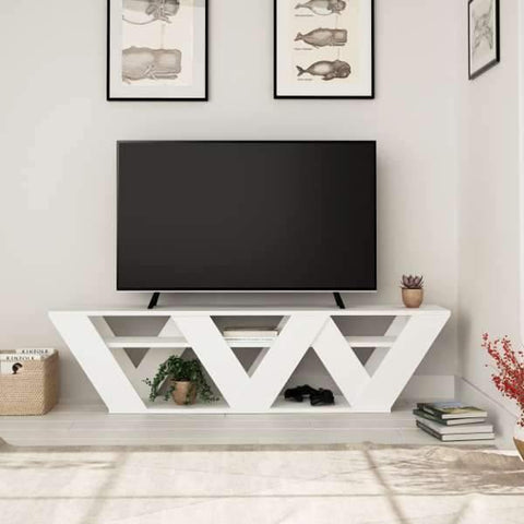 Aurora Tv Stand-White-Modern Furniture Deals