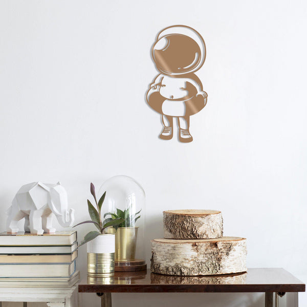 BABY ASTRONAUT - COPPER Wall Art-Metal Wall Art-[sale]-[design]-[modern]-Modern Furniture Deals