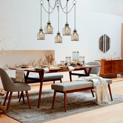 BASKET 5 Drop Ceiling Light Black-Ceiling Light-[sale]-[design]-[modern]-Modern Furniture Deals