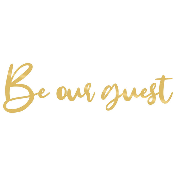 BE OUR GUEST - GOLD Wall Art-Metal Wall Art-[sale]-[design]-[modern]-Modern Furniture Deals