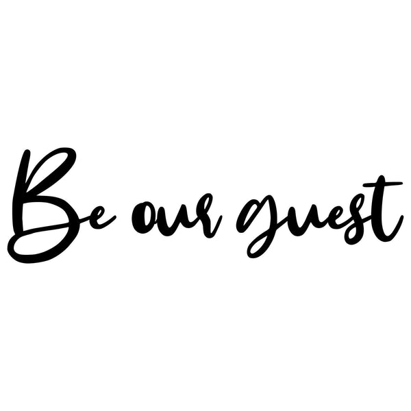 BE OUR GUEST Wall Art-Metal Wall Art-[sale]-[design]-[modern]-Modern Furniture Deals