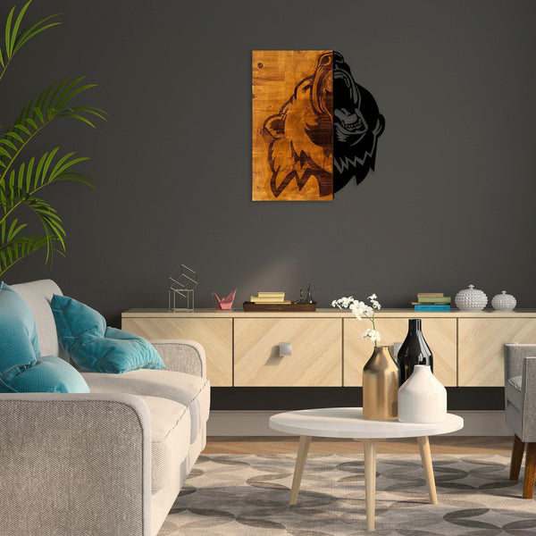 Bear 2 Metal Wall Art-Metal Wall Art-[sale]-[design]-[modern]-Modern Furniture Deals