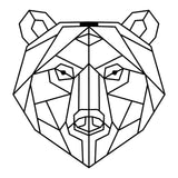 BEAR - BLACK Wall Art-Metal Wall Art-[sale]-[design]-[modern]-Modern Furniture Deals