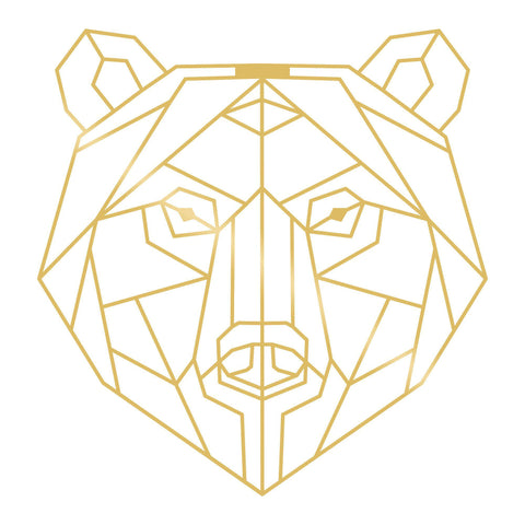 BEAR - GOLD Wall Art-Metal Wall Art-[sale]-[design]-[modern]-Modern Furniture Deals