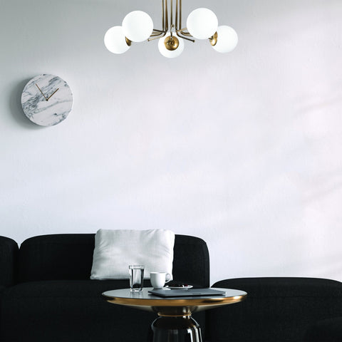 BEATRICE 5 Vintage Glass Ball Ceiling Light Gold-Ceiling Light-[sale]-[design]-[modern]-Modern Furniture Deals